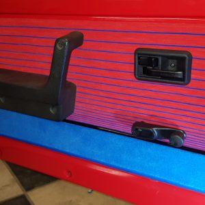 Renault 5 Turbo R5T R5 R5T1 R5T2 portes porte rouge rayé bleu