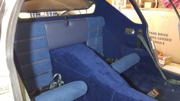 Renault Alpine A310V6 A310 V6 blue rear seat