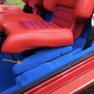 Renault 5 Turbo R5T R5 R5T1 R5T2 support bas de caisse polyester moquette bleu