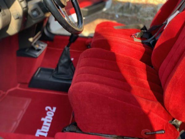 R5 Turbo R5T2 Turbo2 Turbo Renault siège tapis rouge