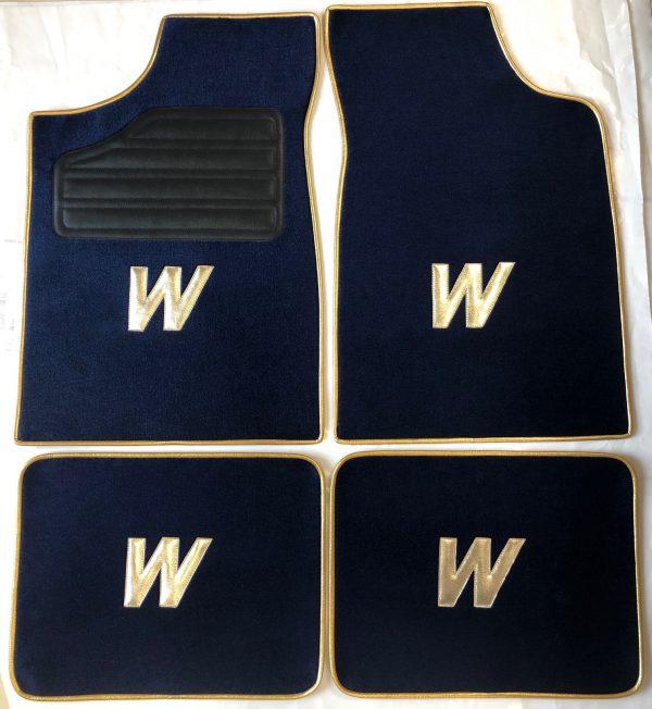Renault sport Clio Williams W tapis sur-sur tapis selliers du domaine bleu marine or