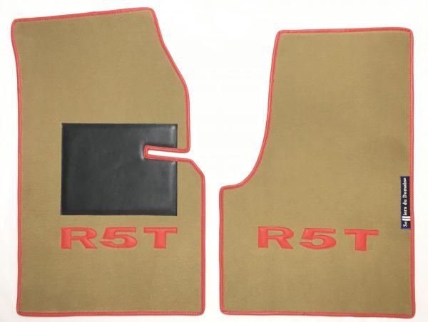 Renault 5 Turbo R5T R5 R5T1 R5T2 tapis sur-tapis sur tapis beige rouge