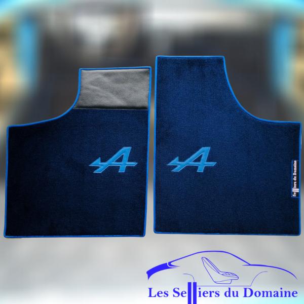 Renault Alpine A110 Berlinette set sur tapis sur-tapis moquette bleu marine A bleu et tour bleu