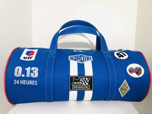 Renault Alpine Turbo shell cibié marchal gotti elf mod'plastia 24H mans gordini bag suitcase leather leather sport blue white