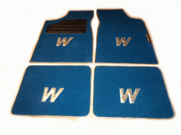 Renault Clio Williams set sur tapis sur-tapis moquette bleu W or