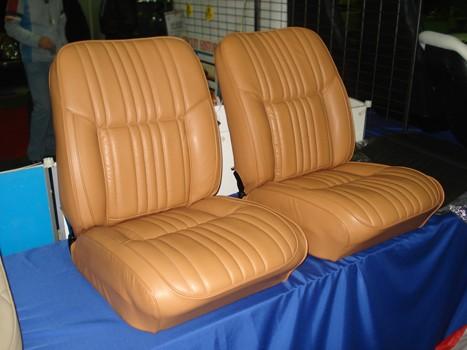 Renault Alpine A110 Berlinette siege siège inclinables cuir biscuit marron beige