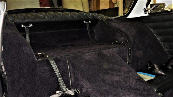 Renault Alpine A110 Berlinette sangle a à bagage noir simili moquette