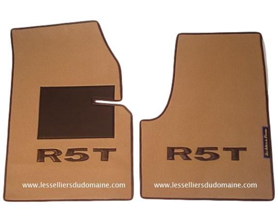 Renault 5 turbo 1 2 R5T R5T1 R5T2 T1 T2 sur tapis sur-tapis moquette beige marron chocolat