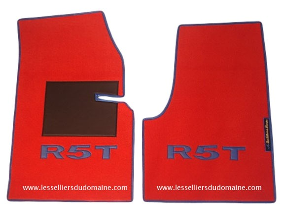Renault 5 turbo 1 2 R5T R5T1 R5T2 T1 T2 sur tapis sur-tapis moquette rouge bleu