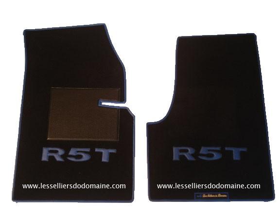 Renault 5 turbo 1 2 R5T R5T1 R5T2 T1 T2 sur tapis sur-tapis moquette noire noir bleu