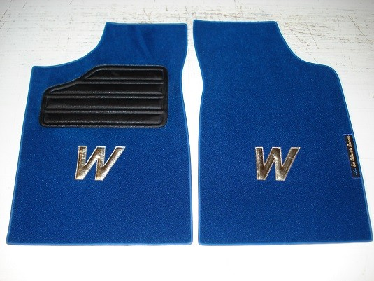 Renault Clio Williams set sur tapis sur-tapis Moquette bleu royal W et tour or