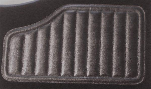 Renault Clios 16's 16s set sur tapis sur-tapis noir Talonnette en cuir noir avec surpiqûres noires