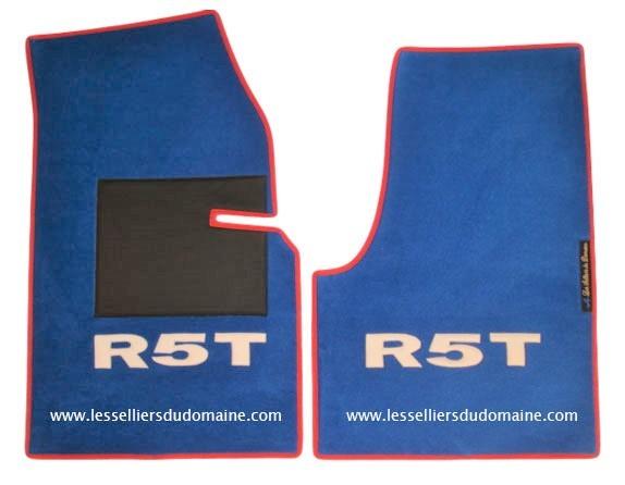 Renault 5 turbo 1 2 R5T R5T1 R5T2 T1 T2 sur tapis sur-tapis moquette rouge bleu blanc