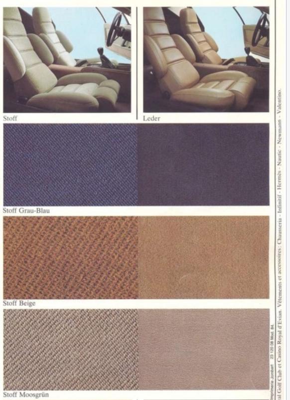 Renault Alpine A310 A310V6 V6 brown blue beige carpet kit sample sample sample