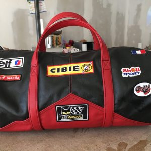 Renault Alpine Turbo shell cibié marchal gotti elf mod'plastia black leather red leather suitcase sports bag helmet