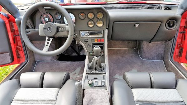 Renault Alpine A310 A310V6 V6 charcoal grey leather dashboard