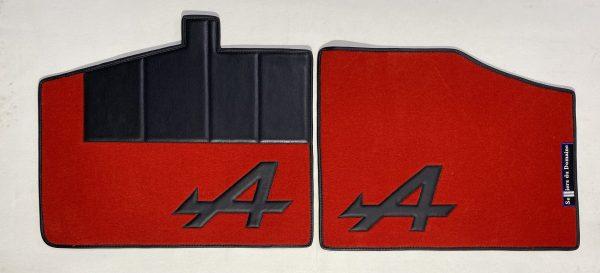 Renault Alpine Berlinette A310 V6GT set de 4 sur tapis sur-tapis moquette A noir rouge