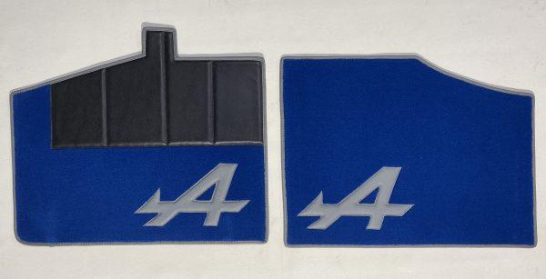 Renault Alpine Berlinette A310 V6GT set de 4 sur tapis sur-tapis moquette A gris bleu