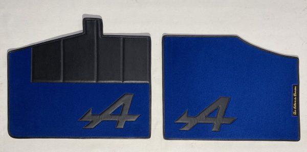 Renault Alpine Berlinette A310 V6GT set de 4 sur tapis sur-tapis moquette A noir bleu