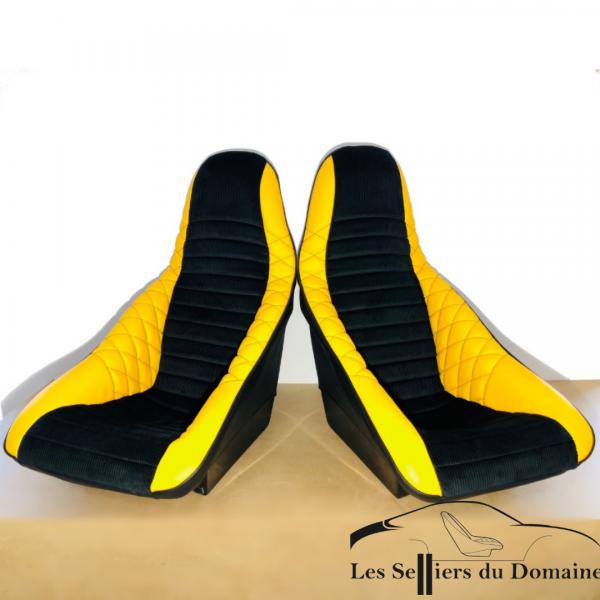 ISA Grand Baquet pour JP4 Simili jaune et velours noir