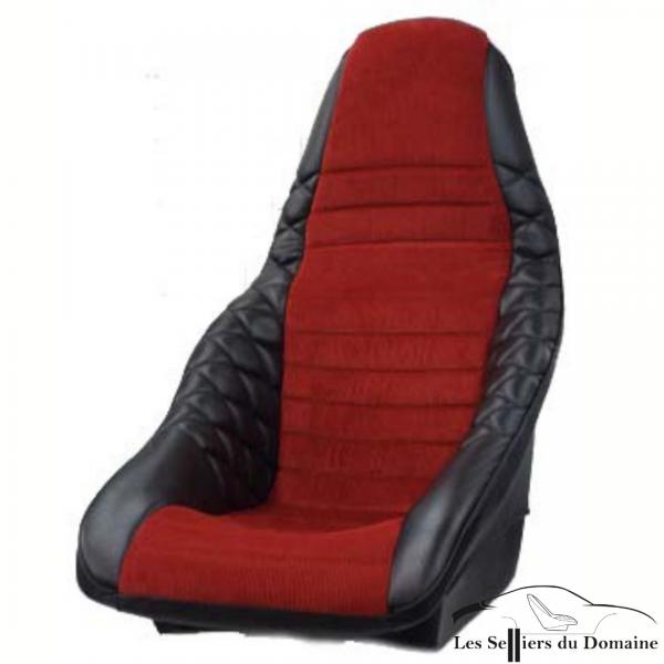 Grand baquet Mod'Plastia ISA simili noir et velours rouge Alpine Renault