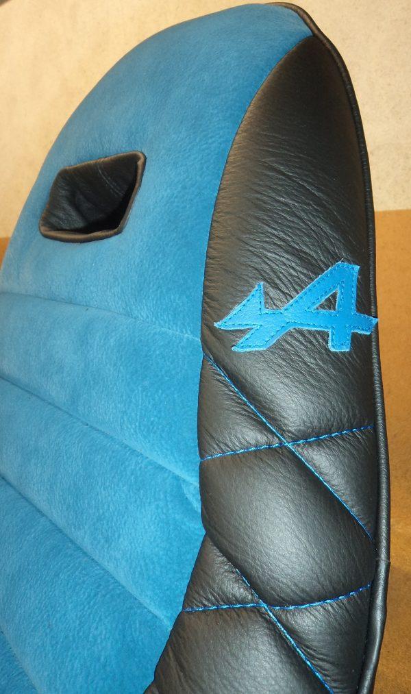 Siège siege alpine renault ISA integral sport allege mod'plastia alpine velours cuir simili noir bleu
