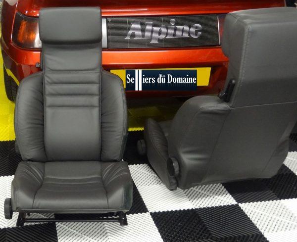 Renault Alpine V6 GT V6GT garniture de siege siège cuir noir