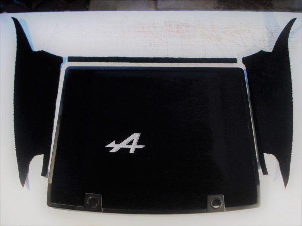 Renault Alpine V6GT V6 GT black carpet engine hood