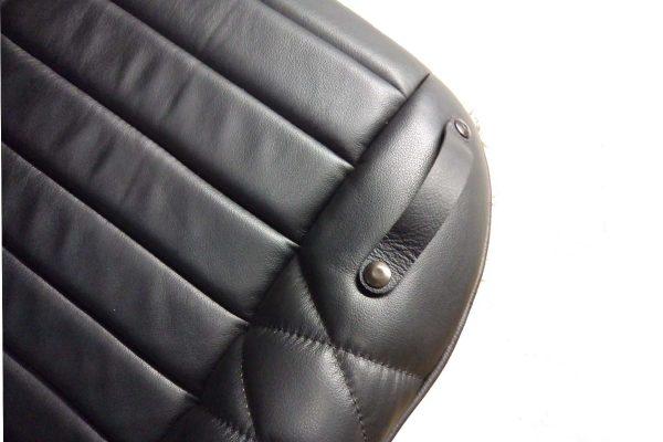 Siège siege alpine renault PMC petit modèle modele classique mod'plastia alpine velours cuir simili noir patte fixation harnais