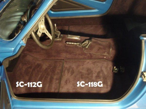Renault Alpine A110 Berlinette kit simili moquette dimensions marron chocolat tapis avant arriere arrière dimensions