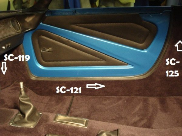 Renault Alpine A110 Berlinette kit simili moquette dimensions marron chocolat garniture de frein a à main dimensions