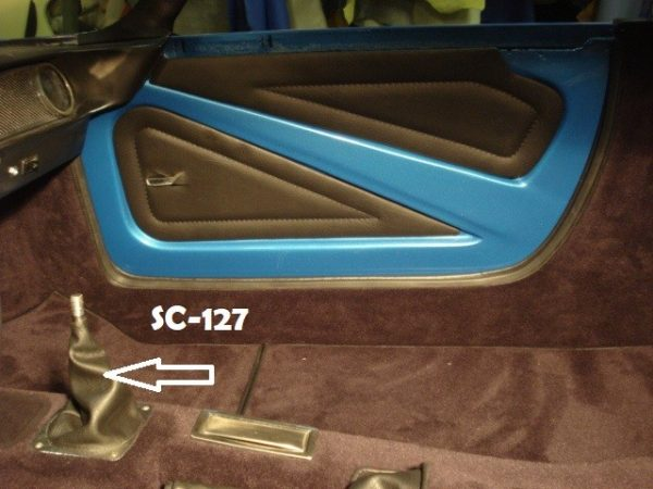 Renault Alpine A110 Berlinette garniture centrale prolongateur de tunnel kit simili moquette dimensions marron chocolat
