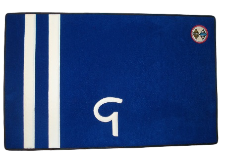 Renault Gordini R8G R8 R12 R12G carpet white blue carpet