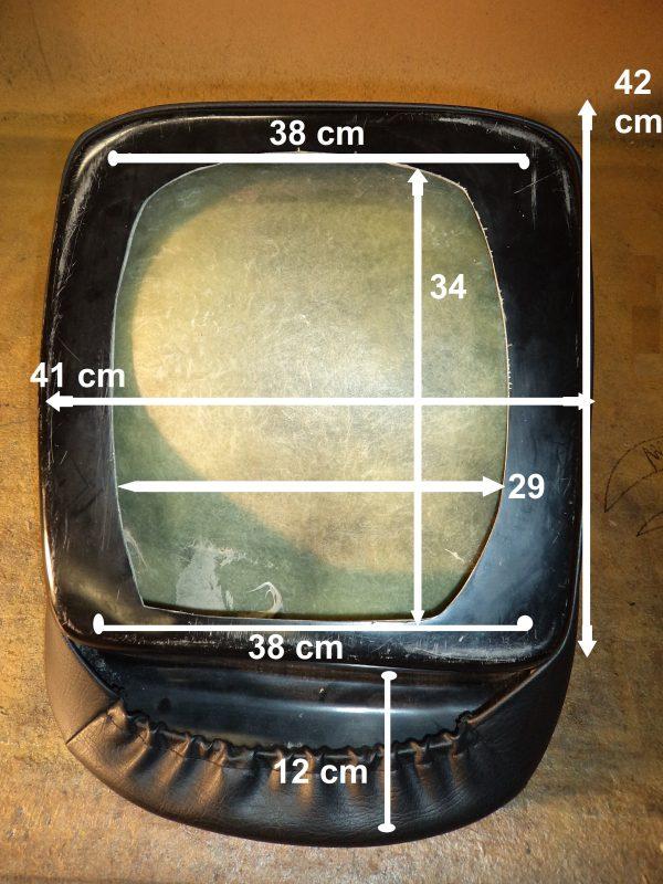 IGC dimensions siege siège Renault Alpine baquet mod'plastia intégral integral grand confort dimensions noir