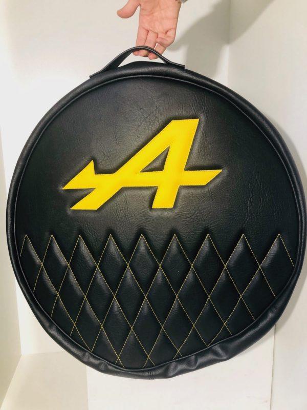 Renault Alpine A110 Berlinette A310 A610 A610V6 V6GT GTA housse roue secours noir jaune