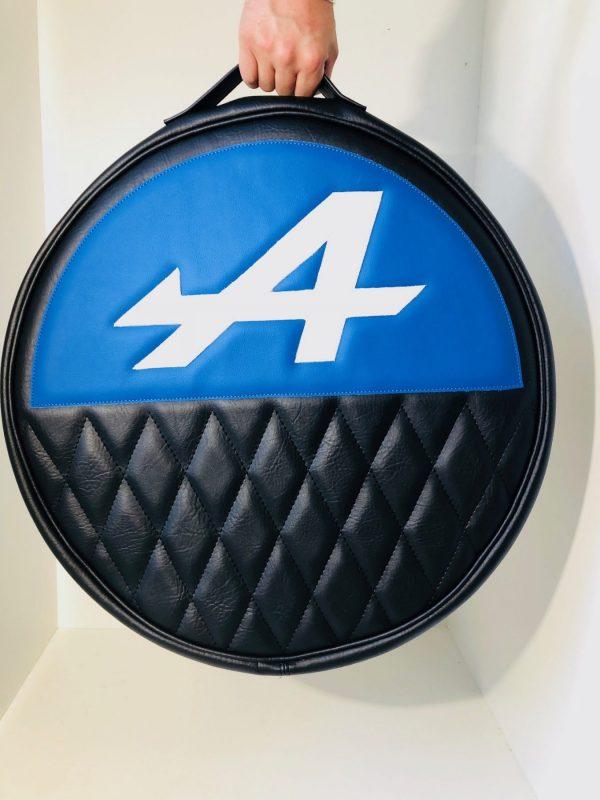 Renault Alpine A110 Berlinette A310 A610 A610V6 V6GT GTA housse roue secours bleu blanc noir
