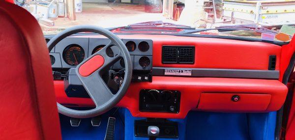 Renault 5 Turbo R5T R5 R5T1 R5T2 planche de bord rouge