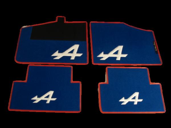 Renault Alpine V6GT GTA set sur tapis sur-tapis bleu blanc rouge