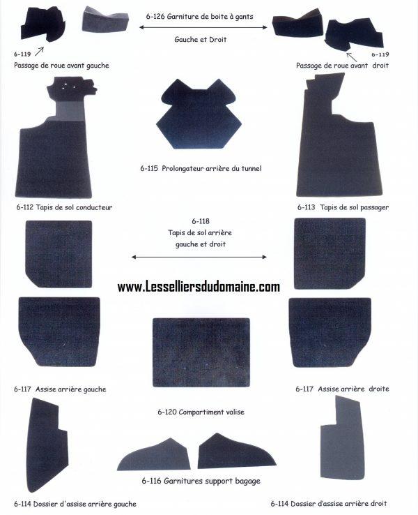 renault tapis de sol conducteur shéma kit moquette