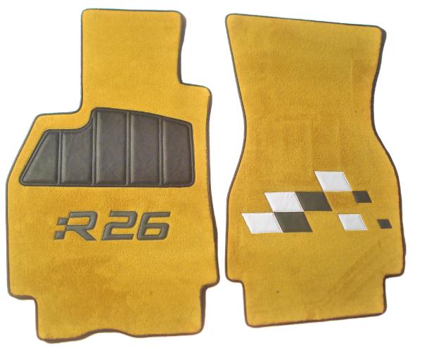 renault megane mégane RS R26 sur tapis sur-tapis damiers jaune sirius
