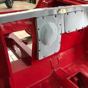 Kit isolation cloison moteur