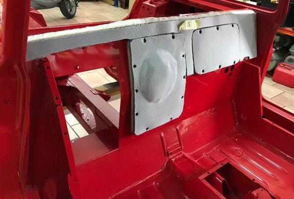 renault 5 turbo 1 2 R5T R5T1 R5T2 rouge kit isolation cloison moteur