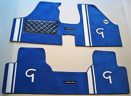 Renault Gordini R12G R12 tapis jeu complet bleu blanc