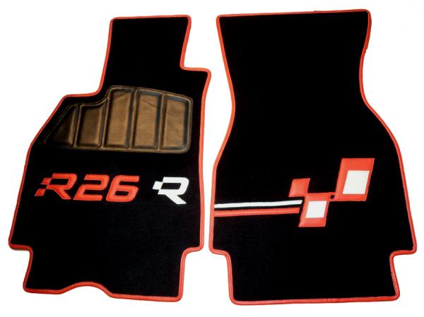 Renault Megane Mégane RS R26 R26R red black carpet kit