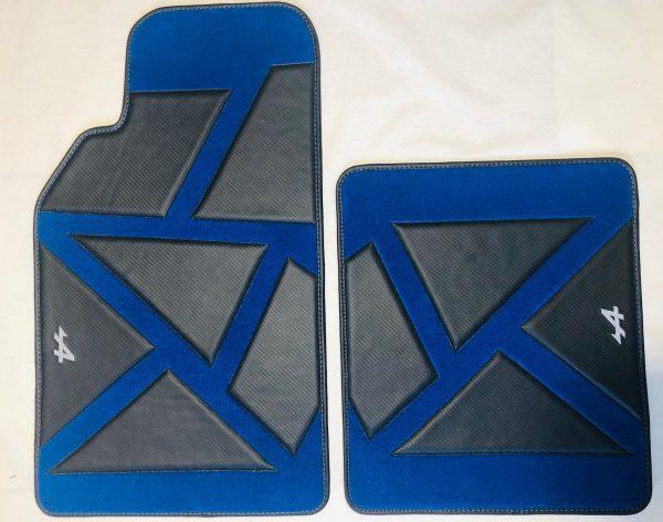 Renault Alpine A110 blue black carpet floor mat sedan