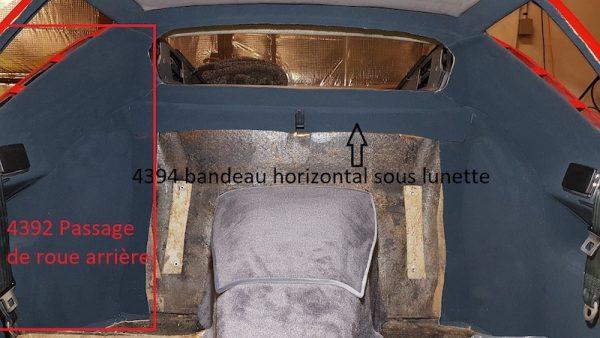 Renault Alpine A310 V6 A310V6 habillage de passage de roue bandeau sous lunette