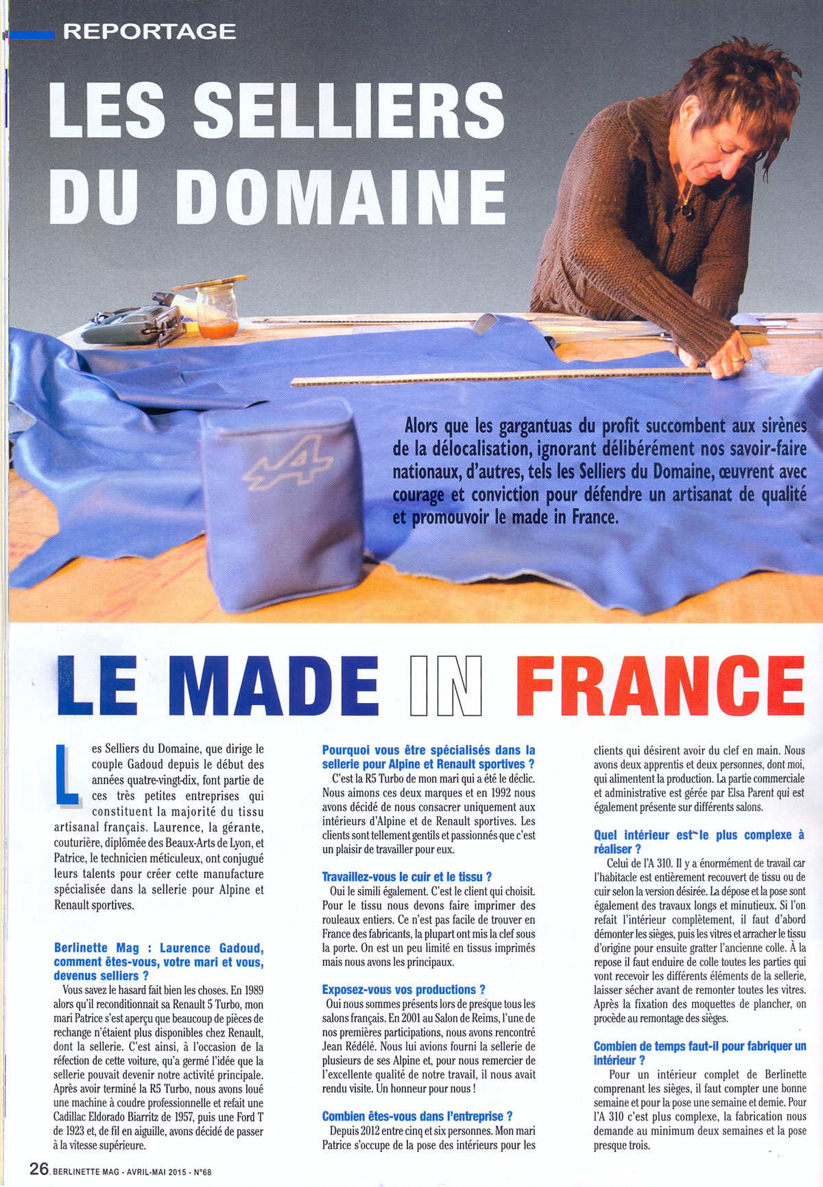 Article Berlinette mag 2015