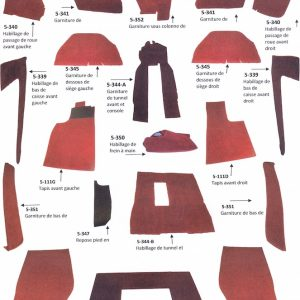 Renault Alpine A310 4-cylindres 4 cylindres kit complet moquette rouge