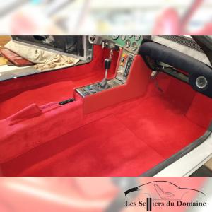 Kit moquettes Alpine A310 4cylindres Moquette rouge rubis bordeaux