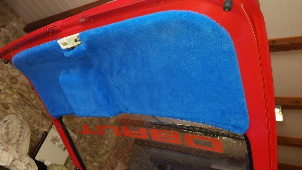 Renault 5 Turbo R5T R5 R5T1 R5T2 support plage arrière hayon polyester rouge bleu moquette